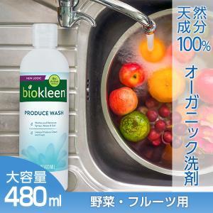 野菜洗い洗剤 フルーツ 果物洗い洗剤 ピーリングウォッシュ 480ml 天然成分 手にやさしい 農薬落とし|biokleen-shop