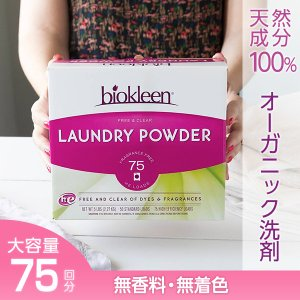 【無香料】粉末洗剤 洗濯洗剤  ランドリーパウダー 無香料・無着色 2.25kg 衣類用 おしゃれ着 赤ちゃん 子供服 臭い 安心 大容量 高濃縮|biokleen-shop