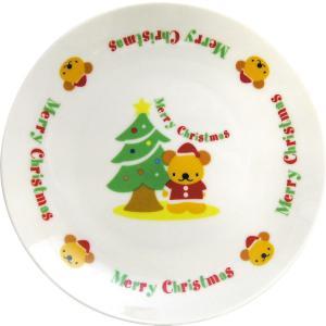 クリスマス ケーキ皿(ツリー&ベア)...