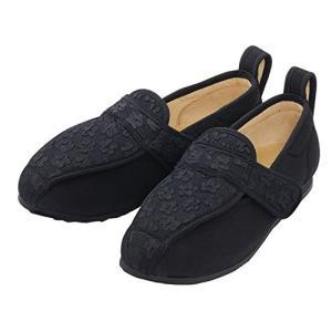 彩彩〜ジャガード〜 W902 ( 婦人用) 両足 (ブラック 26.0cm) マリアンヌ製靴  W1...