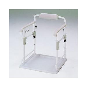 組立簡単!いまお使いのポータブルトイレがすぐさまフレーム付きに大変身! 肘掛けは、上下に5段階調節で...