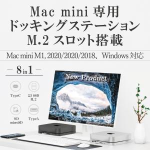 Mac mini ハブ/ドッキングステーション (8in1 TypeC)シルバー&スペースグレー/ 2.5インチ SATA接続 SSD/HHD + M.2 スロット搭載 (外付け SSD ケース)|biracle
