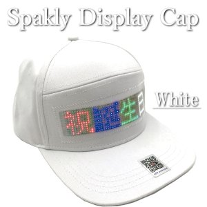 パーティーグッズ 光る帽子 LED 帽子 白 SparklyDisplayCap(スパークリーディスプレイキャップ)誕生日グッズ 応援グッズ ハロウィングッズ 男女兼用 biracle