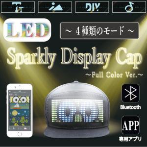 光る帽子 LED帽子 黒 Sparkly Display Cap Full Color Ver.  かぼちゃ帽子 かぶりもの 誕生日 応援 ハロウィン パーティー 男女兼用 説明書兼保証書 biracle