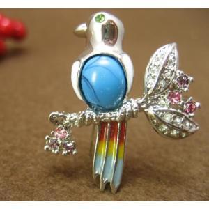 インコ 雑貨/鳥のブローチ ヒバリ bird-style