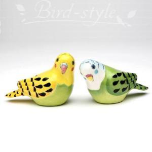 セキセイインコの調味料入れ イエロー&グリーン|bird-style