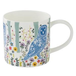鳥柄 雑貨 グッズ/フクロウのマグカップ Woodland Owl|bird-style
