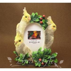 オカメインコのフォトフレーム M/インコ 鳥 雑貨 グッズ bird-style
