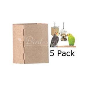 インコ 鳥 おもちゃ/フォージング ボックスフィーダー・レフィル 5枚入り|bird-style
