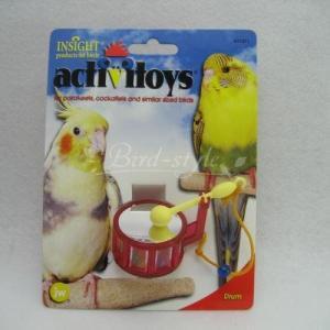 インコ 鳥 おもちゃ/バードトイ・ドラム|bird-style