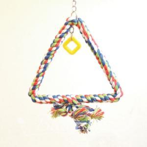 インコ 鳥 おもちゃ/トライアングル・ロープ・スウィング S bird-style