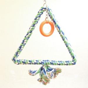 インコ 鳥 おもちゃ/トライアングル・ロープ・スウィング M bird-style