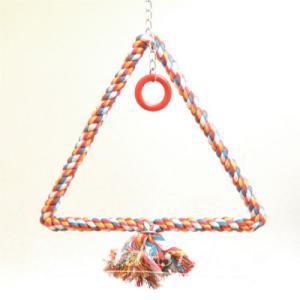 インコ 鳥 おもちゃ/トライアングル・ロープ・スウィング L bird-style
