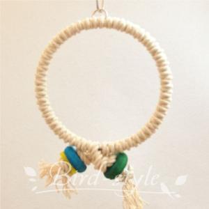 インコ 鳥 おもちゃ/コットン・リング・スウィング S bird-style