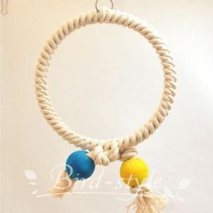 インコ 鳥 おもちゃ/コットン・リング・スウィング M bird-style
