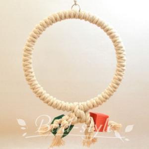 インコ 鳥 おもちゃ/コットン・リング・スウィング L bird-style