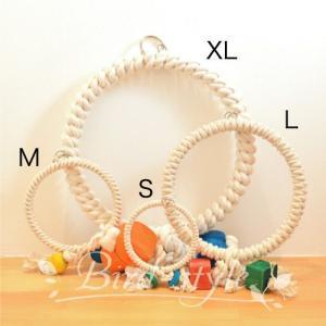 インコ 鳥 おもちゃ/コットン・リング・スウィング XL bird-style