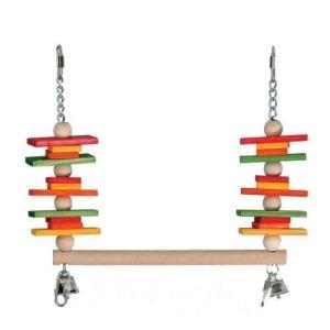 インコ 鳥 おもちゃ/ウッド・スラット・スウィング M bird-style