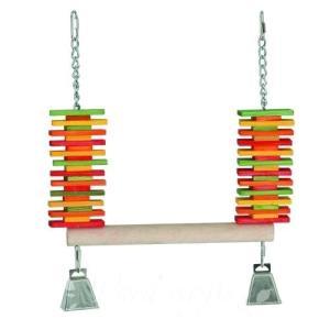 インコ 鳥 おもちゃ/ウッド・スラット・スウィング L bird-style