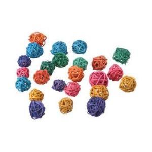 インコ 鳥 おもちゃ/ミニ・マンチボール カラー 6個入り|bird-style