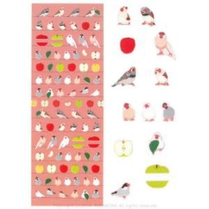 MIDORI / シール 2194 文鳥とりんご柄 82194006 / 9994906