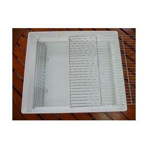 9993773【HOEI】465シリーズ インコ用足付きステンレス製糞きり網|birdmore