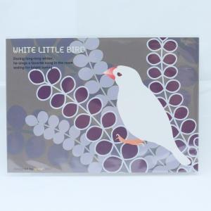 【spica*】ポストカード・001・植物/文鳥・白/138A0101◆クロネコDM便可能|birdmore