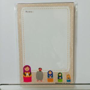 【spica*】ミニメモパッド001・マトリョーシカ/文鳥・桜/138A0117