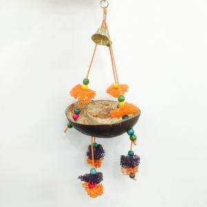 レインボー / ココナッツブランコ ( 鳥 とり トリ おもちゃ ブランコ )|birdmore