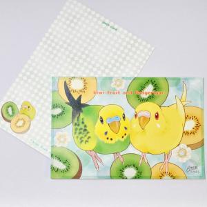 とっ・とっ・pi♪ / ポストカード 「 kiwi 」 / セキセイインコ / 197A0213