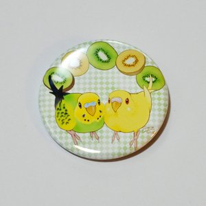 とっ・とっ・pi♪ / 缶バッジ 「 kiwi 」 / セキセイ インコ / 197A0214