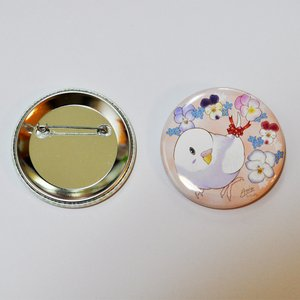 とっ・とっ・pi♪ / 缶バッジ 「 viola 」 / セキセイ インコ / 197A0215