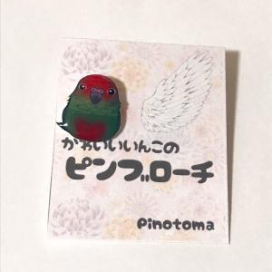 ぴのとま / ブローチ/ バラビタイ ウロコインコ / 247A0276 ネコポス 対応可能  ( BIRDMORE バードモア 鳥用品 鳥グッズ 鳥 とり トリ インコ 文鳥 ) birdmore