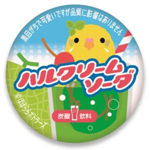 ほほらら工房 / 缶バッジ ( 牛乳キャップ ) /黄ハルクインソーダ / 244A0219