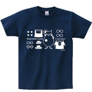 ほほらら工房 /Tシャツ / オカメインコ女子紺色 M / 244A0233  ( BIRDMORE バードモア 鳥グッズ 鳥用品 雑貨 鳥 バード プレゼント )|birdmore