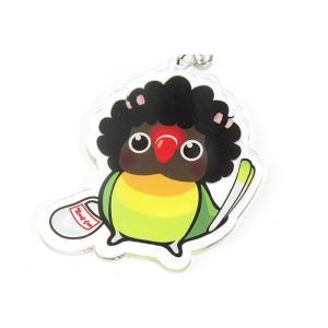 いんこっこのくに / おかん インコ アクリル キーホルダー / 206A0293 ネコポス 対応可能 ( BIRDMORE バードモア 鳥用品 鳥グッズ 雑貨 グッズ 鳥 とり )|birdmore