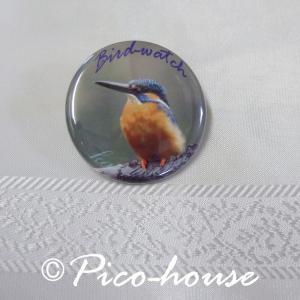 ぴこはうす / 缶バッジ カワセミ / 056A0209  ネコポス 対応可能 ( BIRDMORE バードモア 鳥グッズ 鳥用品 雑貨 鳥 バード プレゼント )|birdmore