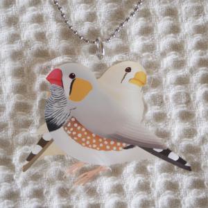 楓工房 /アクリルキホルダー・キンカチョウ / キンカチョウ・ノーマル、フォーン / 202A0260 ネコポス 対応可能  ( BIRDMORE バードモア 鳥用品 鳥グッズ )|birdmore