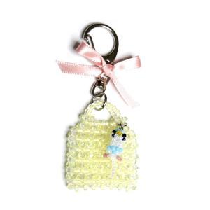OKAMEN75 / バッグ型チャーム/セキセイ(ハルクイン) / 173A0301 ( BIRDMORE バードモア 鳥用品 鳥グッズ 雑貨 鳥 とり トリ プレゼント)|birdmore