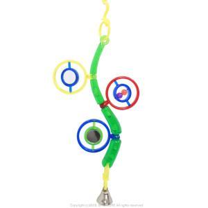 JW   The Wave   グリーン   9997082    BIRDMORE バードモア 鳥用品 鳥グッズ 鳥 とり トリ おもちゃ  動く 鏡 ミラー 緑 色|birdmore