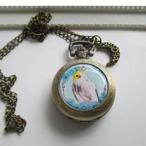 鳥乃都 / 懐中時計M/オカメインコ / 077A0319  ( BIRDMORE バードモア 鳥グッズ 鳥用品 雑貨 鳥 バード プレゼント ) birdmore