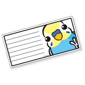 いんこ屋堂 一筆箋 セキセイインコ パステルレインボウ オス 054A0246 ネコポス 対応可能  BIRDMORE バードモア 鳥グッズ 鳥用品 雑貨 鳥 バード birdmore