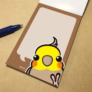 いんこ屋堂 メモ帳 おしゃべりオカメインコ シナモン 054A0262 ネコポス 対応可能  BIRDMORE バードモア 鳥グッズ 鳥用品 雑貨 鳥 バード プレゼント birdmore