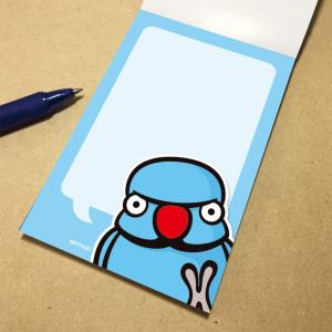 いんこ屋堂 メモ帳 おしゃべりワカケホンセイインコ ブルー 054A0265 ネコポス 対応可能  BIRDMORE バードモア 鳥グッズ 鳥用品 雑貨 鳥 バード birdmore