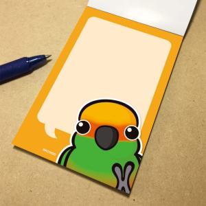 いんこ屋堂 メモ帳 おしゃべりゴシキメキシコインコ 054A0267 ネコポス 対応可能  BIRDMORE バードモア 鳥グッズ 鳥用品 雑貨 鳥 バード プレゼント birdmore