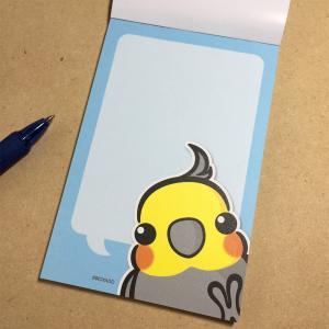 いんこ屋堂 メモ帳 おしゃべり オカメ インコ ノーマル 054A0271 ネコポス 対応可能  BIRDMORE バードモア 鳥グッズ 鳥用品 雑貨 鳥 バード プレゼント birdmore
