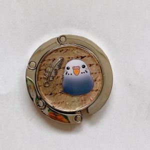 ぴのとま / ★バックハンガー / セキセイ・グレー / 247A0398 ネコポス 対応可能 ( BIRDMORE バードモア 鳥用品 鳥グッズ 雑貨 グッズ 鳥 とり トリ ) birdmore