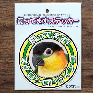 TOMOYAMASHITA DESIGN STUDIO.  ズグロシロハラインコ 飼ってます ステッカー 195A0376  ネコポス 対応可能  インコサミット バードモア 鳥グッズ 鳥用品|birdmore