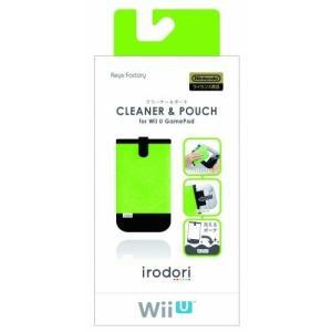 新品 WiiU クリーナー&ポーチ for WiiUゲームパッド(グリーン)|birds-eye