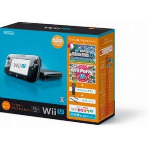WiiU本体 すぐに遊べるファミリープレミアムセット(クロ) WiiU 中古 本体|birds-eye
